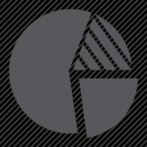 chart, diagram, finance, graph, pie, round, statistics icon