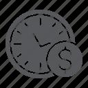 clock, coin, dollar, finance, hour, money, time