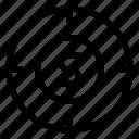 dollar, goal, money, target icon