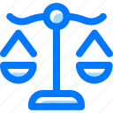 balance, justice, scale icon