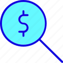 banking, currency, dollar, finance, search, sign, value