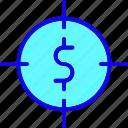 aim, bullseye, currency, dollar, finance, focus, target