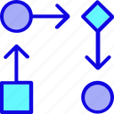 analytics, business, currency, finance, graph, management, marketing icon