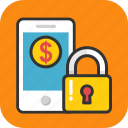 banking security, ebanking, internet banking, mobile banking, smartphone icon