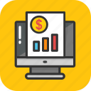 analytics, e marketing, online report, presentation, statistics icon