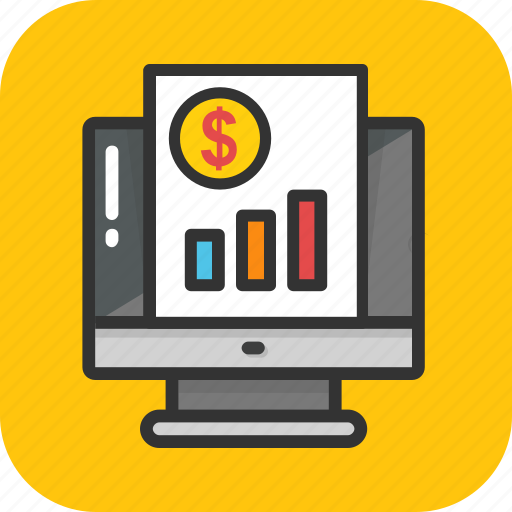 analytics, e marketing, online report, presentation, statistics icon