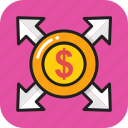 banking, business, dollar, finance, money icon