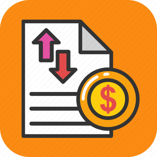 business analysis, financial report, fundraising, income statement, profit and loss icon