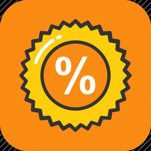 discount, interest, math sign, percentage, sale icon
