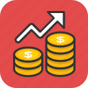 earnings, financial investment, income, profitability icon