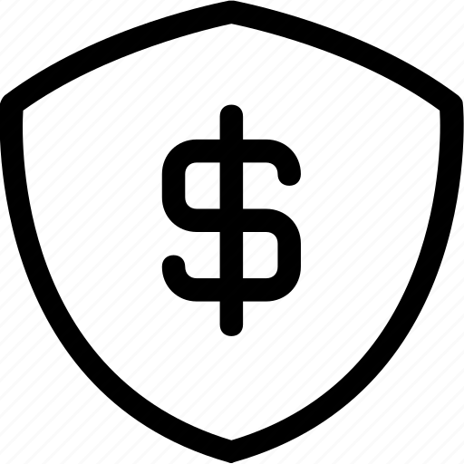 finance, marketing, protection, secure, shield icon
