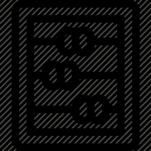 abacus, calculate, calculator, finance, formula icon
