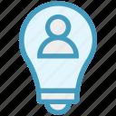 bulb finance, business, idea, light, person, user