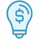 brainstorming, bulb, business, dollar sign, finance, idea, money