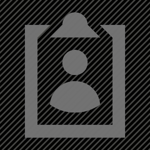 badge, clipboard, profile, profile board, volunteer card icon
