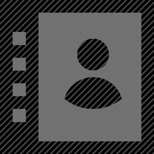 address book, phone directory, phonebook, telephone book, telephone directory icon