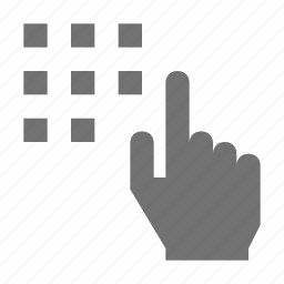 finger touch, hand gesture, hand touch, keypad, pointing icon