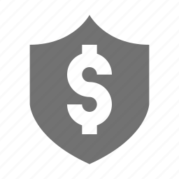 dollar shield, dollar sign, european currency, money protection, shield icon