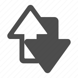 arrows, down, exchange, up icon