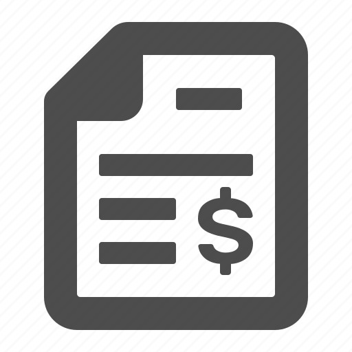 bill, document, file, financial, report, tax, taxes icon