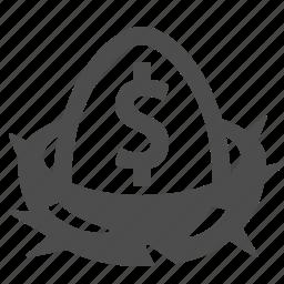 401k, egg, finance, money, nest, pension, savings icon