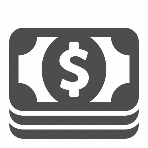 banking, bills, dollar, finance, financial, money, stack icon