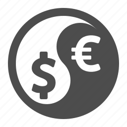 currency, exchange rate, finance, yin yang, yin-yang icon
