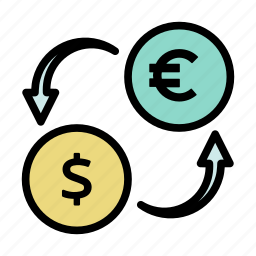 currency exchange, exchange, money, money order, money transfer, remittance, transaction icon