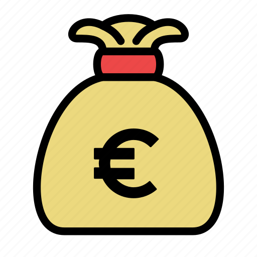 bag, bank, euro, money icon