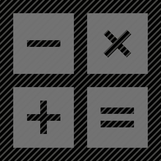 calculation, education, mathematical, mathematical symbols, maths icon