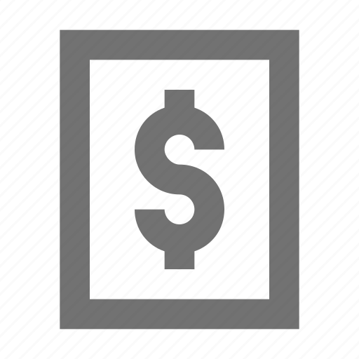 currency, dollar, finance, money, saving icon