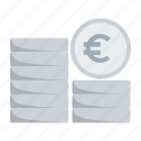 cash, coin, euro, finance, financial, money icon