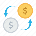 convert, currency exchange, dollar, financial, money, money transfer, transaction icon