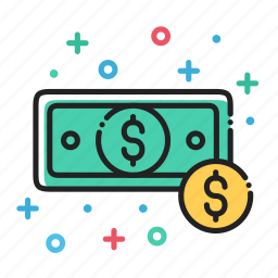 bills, cash, coin, dollar, finance, money icon