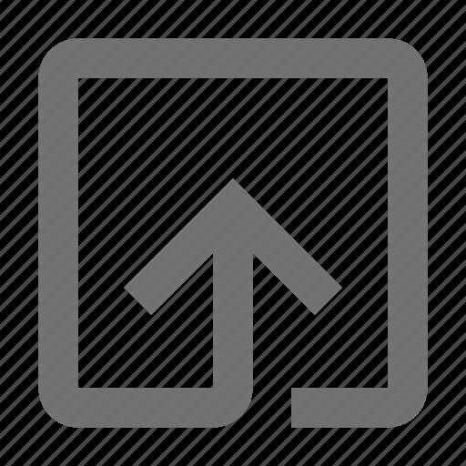 arrow, entering, login, multimedia option, up arrow icon