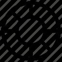 chart, circle, circle chart, pie chart icon icon