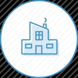 building, house, zalog icon