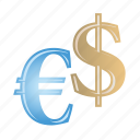 dollar, euro, financial, money, payment