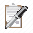 note, paper, pen, pencil, text, write icon
