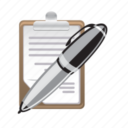 note, paper, pen, pencil, text, write icon