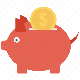 budget, piggy bank, savings icon icon