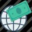 currency, finance, global money exchange, money, money exchange, payment, world icon icon