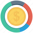 finance, graph, coins, currency, • chart, money icon