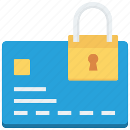 credit card, lock, security icon icon