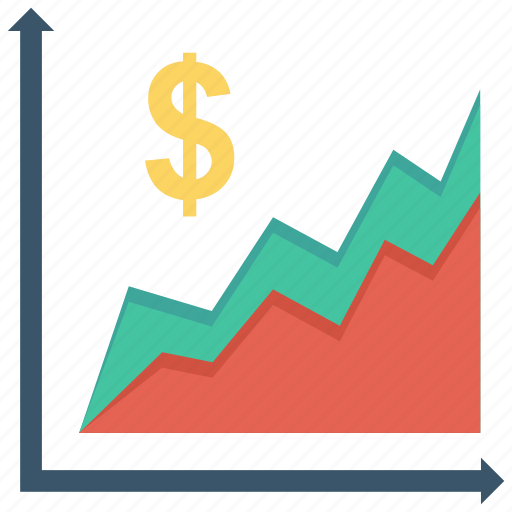 business, currency, financial, graph, money icon icon