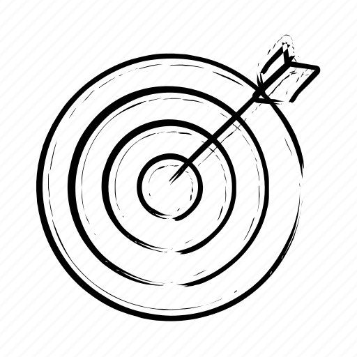 arrow, bullseye, center, dart, goal, shooting, target icon icon