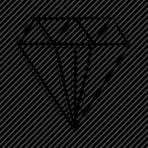 diamond, mineral icon