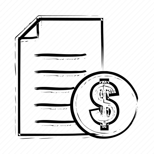 bill, document, file, money, page icon icon