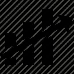 ascendant12, ascendent, change, market, statistics icon