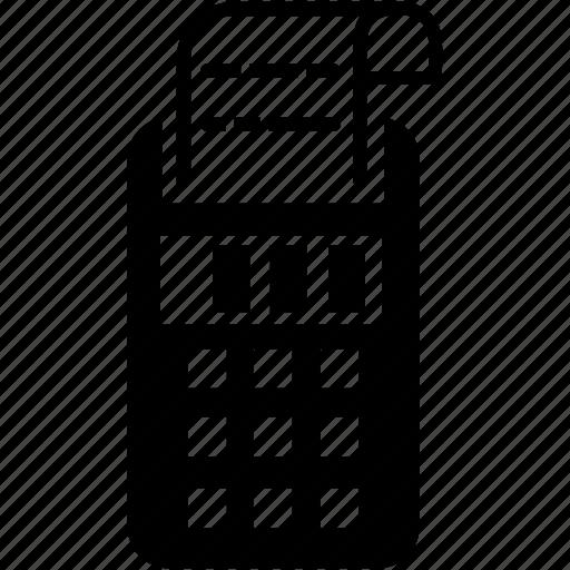 bill, calculator, printing icon